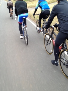Chilly start but we rode into sixty degree weather